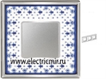 Изображение FD01343AZCB Рамка на 3 поста BLUE LYS Bright Chrome PORCELAIN