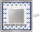 Изображение FD01343AZCB Рамка на 3 поста BLUE LYS Bright Chrome PORCELAIN