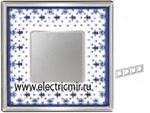 Изображение FD01344AZCB Рамка на 4 поста BLUE LYS Bright Chrome PORCELAIN