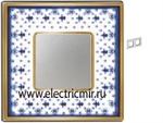 Изображение FD01342AZOB Рамка на 2 поста BLUE LYS Bright Gold PORCELAIN