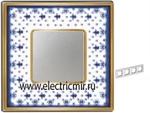 Изображение FD01344AZOB Рамка на 4 поста BLUE LYS Bright Gold PORCELAIN