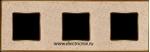Изображение FD01333AMOB Рамка на 3 поста AURORAMARBLE Bright Gold CORINTO