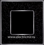 Изображение FD01331BQCB Рамка на 1 пост BLACKQUARTZ Bright Chrome CORINTO