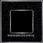 Изображение FD01331BQCB Рамка на 1 пост BLACKQUARTZ Bright Chrome CORINTO