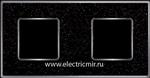 Изображение FD01332BQCB Рамка на 2 пост BLACKQUARTSZ Bright Chrome CORINTO