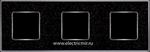 Изображение FD01333BQCB Рамка на 3 поста BLACKQUARTZ Bright Chrome CORINTO