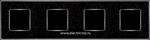 Изображение FD01334BQCB Рамка на 4 поста BLACKQUARTZ Bright Chrome CORINTO