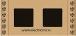Изображение FD01282OR Рамка на 2 поста DECOR CRYSTAL DE LUXE