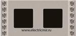 Изображение FD01282CB Рамка на 2 поста DECOR CRYSTAL DE LUXE