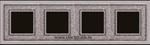 Изображение FD01294CB Рамка на 4 поста ART CRYSTAL DE LUXE
