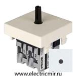 Изображение FD03140 Поворотный выключатель двухклавишный белый 10А FEDE