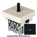 Изображение FD03110-M Поворотный выключатель черный 10А FEDE