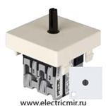 Изображение FD03121 Поворотный переключатель с 2-х мест с подсветкой белый FEDE