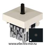 Изображение FD03121-M Поворотный переключатель с 2-х мест с подсветкой черный FEDE