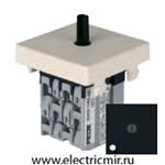 Изображение FD03131-M Поворотный выключатель с 3-х мест с подсветкой черный FEDE