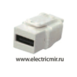 Изображение FD-210USB Разъем USB 2.0 type A белый  FEDE