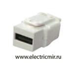 Изображение FD-210USB-A Разъем USB 2.0 type A бежевый FEDE