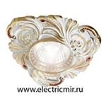 Изображение FD1009ROPCL Светильник точечный из латуни, патина с кристаллами FEDE