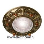 Изображение FD1006RPBCL Светильник точечный из латуни, патина с кристаллами FEDE
