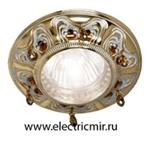 Изображение FD1006ROPCL Светильник точечный из латуни, патина с кристаллами FEDE