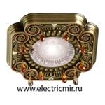 Изображение FD1007RPBCL Светильник точечный из латуни, патина с кристаллами FEDE