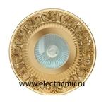 Изображение FD1019ROBTR Светильник точечный из латуни IP44, прозрачное стекло блестящее золото FEDE