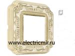 Изображение FD01361OPEN Рамка на 1 пост GOLD WHITE PATINA FIRENZE ENAMEL