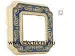 Изображение FD01361AZEN Рамка на 1 пост синяя FIRENZE ENAMEL