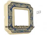 Изображение FD01362AZEN Рамка на 2 поста синяя FIRENZE ENAMEL