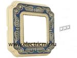 Изображение FD01363AZEN Рамка на 3 поста синяя FIRENZE ENAMEL