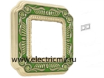 Изображение FD01362VEEN Рамка на 2 поста зеленая FIRENZE ENAMEL