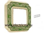 Изображение FD01363VEEN Рамка на 3 поста зеленая FIRENZE ENAMEL