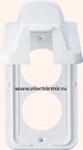 Изображение 6752 57W Накладка розетки 2ой вертикальной с крышкой белая Anam Zunis Legrand