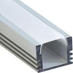 Изображение Профиль накладной алюминиевый 2м матовый экран 2 заглушки 4 крепежа для светодиодных лент CAB261 Feron