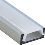 Изображение Профиль накладной алюминиевый 2м матовый экран 2 заглушки 4 крепежа для светодиодных лент CAB262 Feron