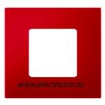 Изображение 2700617-037 Рамка-декор 1 пост красная Simon
