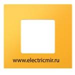 Изображение 2700617-062 Рамка-декор 1 пост желтая Simon