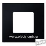 Изображение 2700637-071 Рамка-декор 3 поста черная Simon