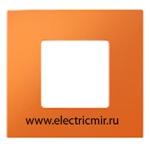 Изображение 2700617-072 Рамка-декор 1 пост оранжевая Simon
