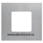 Изображение 2700617-042 Рамка-декор 1 пост нержавеющая сталь Simon