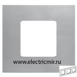 Изображение 2700637-042 Рамка-декор 3 поста нержавеющая сталь Simon