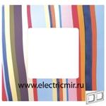 Изображение 2700627-801 Рамка-декор 2 поста многоцветный поток Simon