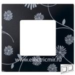 Изображение 2700627-802 Рамка-декор 2 поста черное и белое Simon