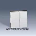 Изображение 2705026-030 Клавиша двойная белая Scudo Simon