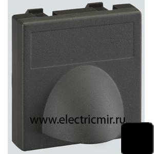Изображение К10-14 Плата для вывода кабеля ,45х45мм, графит Simon