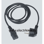 Изображение KTL8-14 Кабель электрический с вилкой 2к+з, 2м, графит Simon