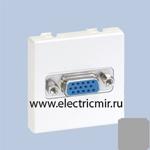 "Изображение K100B-8 Плата с разъемом VGA ""мама"", 15конт, 45х45, алюминий Simon"