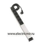 Изображение F1106-14 Электроблок с 6 розетками 2к+з Schuko, кабель 2м Simon