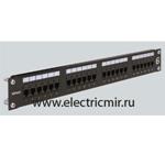Изображение CP624U Патч панель 19'' 1U для кабеля UTP, 24 порта RJ45  Кат. 6, контакты IDC110