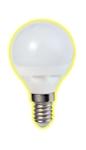 Изображение Лампа светодиодная шарик Е14 7W 2700K 450Lm Электромир